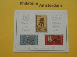 Cyprus 1964, OLYMPICS TOKYO: Mi 237-39, Bl. 2, ** - Zomer 1964: Tokyo