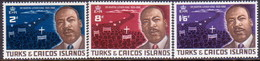 TURKS AND CAICOS ISLANDS 1968 SG #294-96 Compl.set MNH Martin Luther King - Turks And Caicos