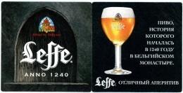 Leffe. Anno 1240. Abbaye De. Abdij Van. Russia. Russie. Rusland. - Beer Mats