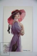 Original Postcard Lady With Large Pink Pamela Hat - Court Barber - Ed.Carlton Publishing N 665 - Coming Out - Barber, Court