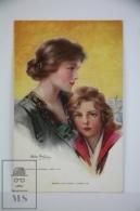 Original Postcard Lady & Girl  - Philip Boileau - Ed. Reinthal & Newman N 830 - When His Ship Comes In - Boileau, Philip