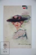 Original Postcard Lady With Hat - Baviera Germany - Seix & Barral - Early 20th Century - Ilustradores & Fotógrafos
