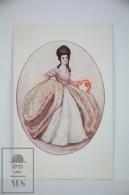 Original Postcard Women Dressed 18th Century Style - Ilustrated Goldinni Nº 524 - Ilustradores & Fotógrafos