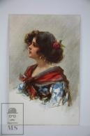 Original Postcard Gypsy Lady Sideways  - Ed. Munk Vienne N 612 - Illustrator Fiori - Ilustradores & Fotógrafos