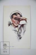 Original Ilustrated Postcard Navy Sailor - Ed. Vivian Mansell  - Unkown Artist - Ilustradores & Fotógrafos