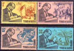 TURKS AND CAICOS ISLANDS 1970 SG #321-24 Compl.set MNH Charles Dickens - Turks And Caicos