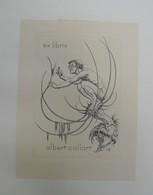 Ex-libris Moderne XXème Illustré -  Allemagne - Homme Et Insecte - Albert Collart - Bookplates