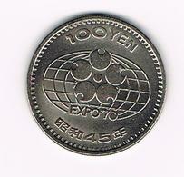 &  JAPAN  100 YEN 1970  EXPO 70 - Japon