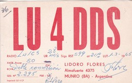 LU4DDS ARGENTINE QSL CARD RADIO HAM AMATEUR.-BLEUP - Radio-amateur