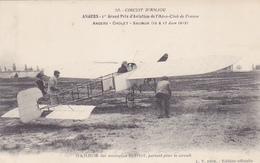 Cpa-49-angers-1er Grand Prix D'aviation-roland Garros Sur Monoplan Bleriot-edi L.V. N°10 - Angers