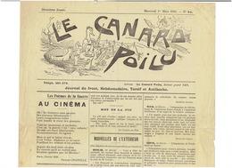 LE CANARD POILU ( Journal Du Front Torsif Et Antiboche)   Du 1er Mars 1916 ( 2 Scans) - Journaux - Quotidiens