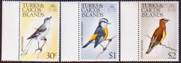 TURKS AND CAICOS ISLANDS 1977 SG #460,462,463 30c, $1, $2 MNH (all Wmk Upright) Birds - Turks And Caicos