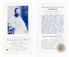 Relique Mgr Henri Verjus, évêque De Limyre, Missionnaire Nouvelle Guinée (Oleggio, Limyra, Issoudun) - Andachtsbilder