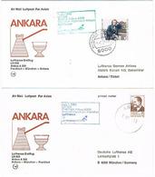 Aérophilatélie - 1er Vol Airbus A 300 (Lufthansa) München / Ankara (Turquie) & Retour - Le 01 Juillet 83 - Transportmiddelen