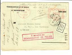 SUISSE SCHWEIZ Genève 1949 Office De Poursuite  Commandement De Payer Non-reclamé - Switzerland
