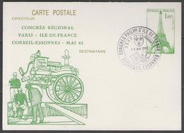 """Entier Postal N°429-CP1 Oblitéré Avec Repiquage """"congrès Régional CORBEIL - Mai 85"""" - Entiers Postaux"""