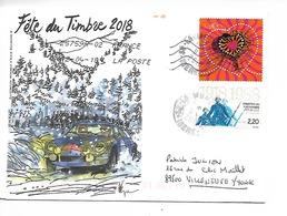 ALPINE RENAULT Enveloppe Illustrée Fete Du Timbre Voyagée 12.04.2018  (officielle Voir Scan Du Verso) - Voitures