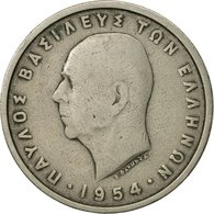 Monnaie, Grèce, Paul I, 5 Drachmai, 1954, TB+, Copper-nickel, KM:83 - Grèce