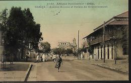 A.O.F  Sénégal   Dakar  Avenue Roume  Et Palais  Du Gouvernement - Senegal