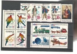 56017 ) Collection  USA Block Postmark - Stati Uniti
