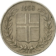 Monnaie, Iceland, 25 Aurar, 1958, TTB+, Copper-nickel, KM:11 - Islande