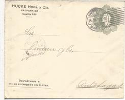 CHILE ENTERO POSTAL HUCKE HNOS Y CIA VALPARAISO 1911 - Chile