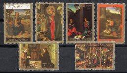 UMM AL QIWAIN - Tableaux Naissance Du Christ  (6 Tp) - Umm Al-Qaiwain