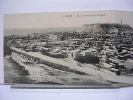 SYRIE - ALEP - VUE PANORAMIQUE (CARTE DOUBLE) + L'EMIR MOUDEHEM + CRUE DU KOUEK DU 6 FEVRIER 1922 - LOT DE 3 CARTES - Syrien