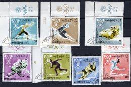 MAHRA STATE - 1968 - 10eme Jeux Olympiques D'hiver à Grenoble (Yvert Série 6 N°1 à 7) - Ver. Arab. Emirate