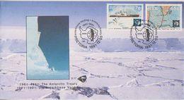 South Africa 1991 Antarctic Treaty 2v FDC (38512) - FDC