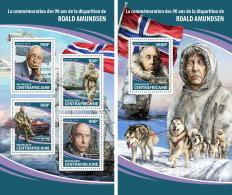 CENTRAL AFRICA 2018 MNH** Roald Amundsen M/S+S/S - OFFICIAL ISSUE - DH1813 - Polarforscher & Promis