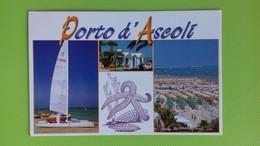 Cartolina PORTO D'ASCOLI - AP - Viaggiata - Postcard - Vedutine - Ascoli Piceno
