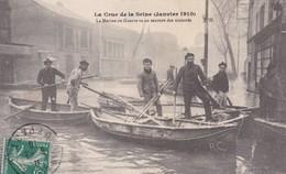 CRUE DE LA SEINE LA MARINE DE GUERRE AU SECOURS DES SINISTRES BELLE ANIMATION  ACHAT IMMEDIAT - Überschwemmung 1910