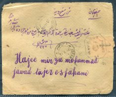 1919 Iran Persia Isfahan Censor Cover. British Occupation Of Iraq - Iran