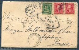 1911 USA Washington Cover - Isfahan Persia Iran Via Teheran - United States