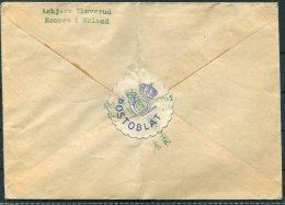 1944 Norway POSTOBLAT Cover Hemnes I Holand - Norway