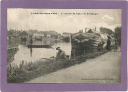 89 LAROCHE-MIGENNES / Le Bassin Du Canal De Bourgogne / Péniche / Animée. - France