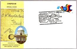 Marca Postal CALCUTTA STEAM LETTER 1861 - Postal Mark. Calcutta 1990 - Correo Postal