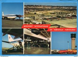 MARIGNANE Aéroport-avions UTA+AIR INTER  +vues Années 60 édition La Cigogne -carte Neuve - Marignane