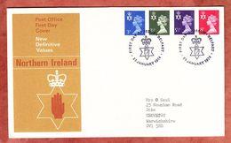 Nordirland, FDC Mit Inhalt Beschreibung, Machin, Erstausgabestempel Belfast 1974 (50320) - Local Issues