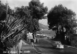 Cartolina Cavi Di Lavagna Via Aurelia Auto D'epoca - Genova (Genoa)