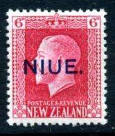 Niue 1915-30 GV 6d, Recess Printing, P. 14x13½, MNH, SG 30 - Niue
