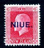 Niue 1915-30 GV 6d, Recess Printing, P. 14x14½, MNH, SG 30a - Niue