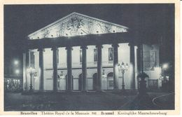 Bruxelles - CPA - Brussel - Théâtre Royal De La Monnaie - Brussel Bij Nacht
