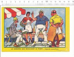 Buvard Découpé Biscottes LUC / La Sardine Qui Bouchait Le Port ... ( De Marseille )  (légende Marseillaise) / CP 02/399 - Biscottes