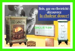 ADVERTISING - PUBLICITÉ - OLIGER, INVENTEUR FABRICANT - BOIS, GAZ OU ÉLECTRICITÉ DÉCOUVREZ LA CHALEUR DOUCE ! EN 1996 - - Publicité