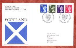 Schottland, FDC Mit Inhalt Beschreibung, Machin, Erstausgabestempel Edinburgh 1974 (50325) - Local Issues