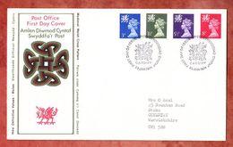 Wales, FDC Mit Inhalt Beschreibung, Machin, Erstausgabestempel Cardiff 1974 (50327) - Local Issues