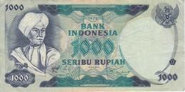 BILLETE DE INDONESIA DE 1000 RUPIAH DEL AÑO 1975   (BANKNOTE) - Indonesia