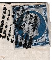 Lettre Bordeaux 1861 Gironde L'Isle-sur-la-Sorgue Cachet Après Le Départ Région Vinicole De La Gironde Astruc - 1849-1876: Classic Period